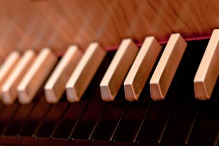 Old harpsichord spinet photo