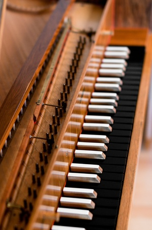 Old harpsichord spinet