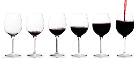From empty glass to full glass of wine