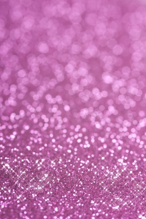 Purple and pink glitter with selective focus