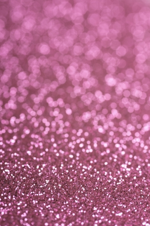 Pink glitter with selective focus Stock Photo