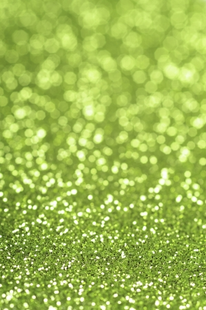 Green glitter with selective focus Stock Photo - 13625667