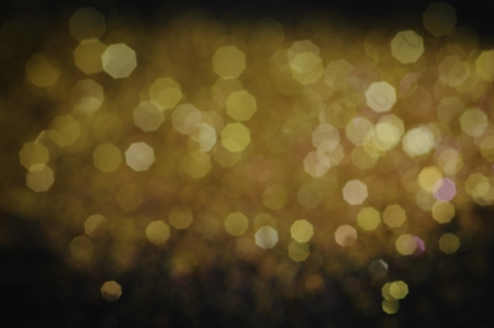 Gold lights on black background Stock Photo - 13625665