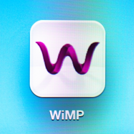 Wimp icon app on the iPad 3. Wimp is a music streaming service by the Norwegian company Aspiro. Stock Photo - 16532273
