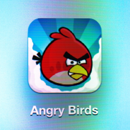 Angry birds icon app on the iPad 3. Angry birds is a successful strategy puzzle video game developed by Finnish computer game developer Rovio Mobile. Editorial