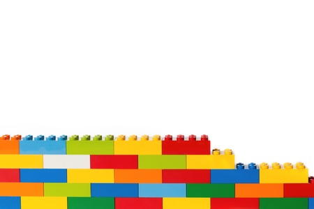 yellow lego block: Lego brick wall