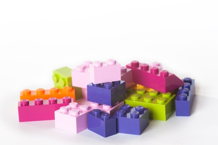 Lego building bricks and blocks. The Lego toys were originally designed in the 1940s in Denmark and have achieved an international appeal.