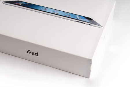 Retail box of the Apple iPad 3. The third generation iPad went on sale iin 2012.