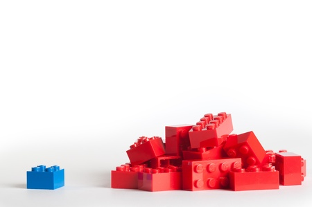 Lego blocks. The Lego toys were originally designed in the 1940s in Denmark and have achieved an international appeal. Editorial