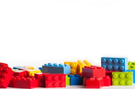 plastic toys: Lego blocks. The Lego toys were originally designed in the 1940s in Denmark and have achieved an international appeal. Editorial