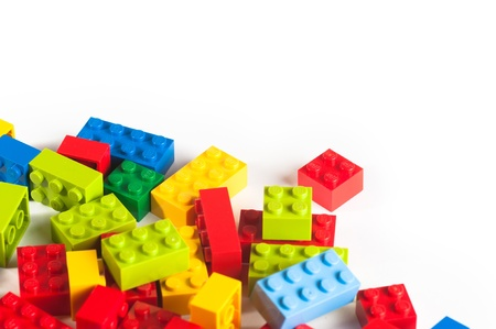 Lego blocks. The Lego toys were originally designed in the 1940s in Denmark and have achieved an international appeal. Stock Photo - 16532251