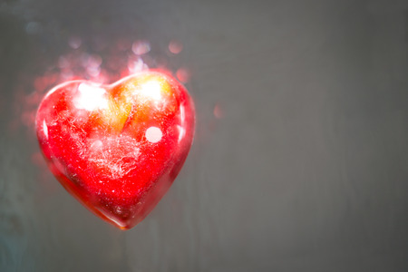 love explode: A heart that explode of love. It looks alive. Stock Photo