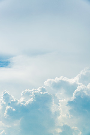 beautiful heaven: Cumulus clouds in the blue sky