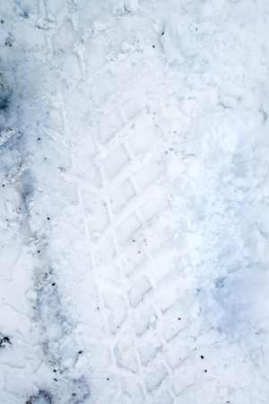 skidmark: Tracks from a car in the snow