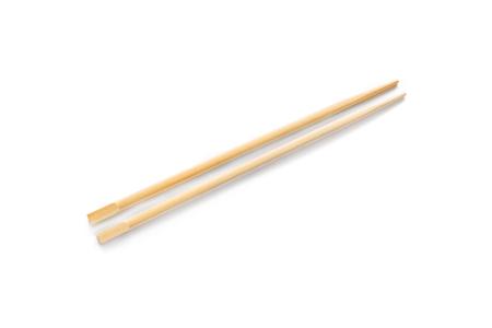 hashi: Pair of chopsticks on white background Stock Photo