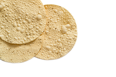 Papadam, a traditional indian snack