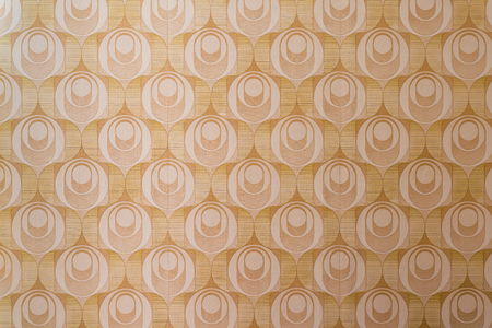Old retro flower wallpaper from an abandoned home