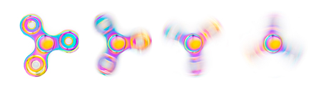 increased: Life of a hand spinner. A fidget toy for increased focus, stress relief.