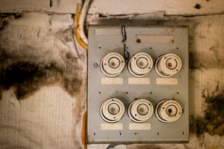 old fuse box in an old abandoned house stock photo picture and rh 123rf com