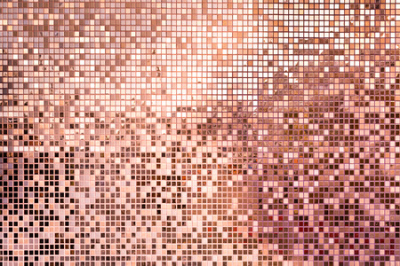 Pink rose gold square mosaic tiles for texture background