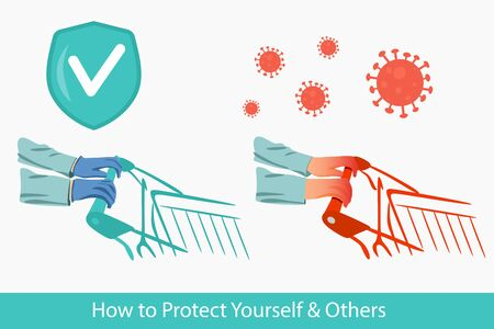 How to protect tourself and others. Know how it spreads. You must wear gloves to avoid getting infected with a new type of coronavirus