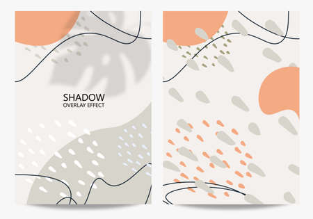 Trendy abstract background with shadow effect. The concept of tropical leaves. Good for poster, postcard, packaging, flyer, social media, banner. Can be used for the beauty industry.