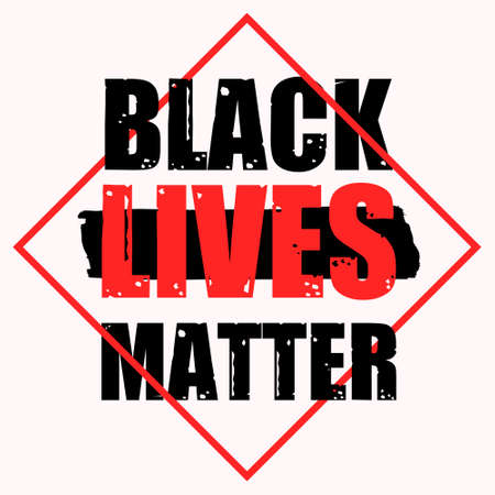 The main slogan of Black Lives Matter. T-shirt printing and face mask. Isolated on a white background