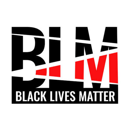 Logo BLM. Black Lives Matter. For printing flags, t-shirts, signage, and other purposes. On the human rights of blacks in the United States. Stock Illustratie