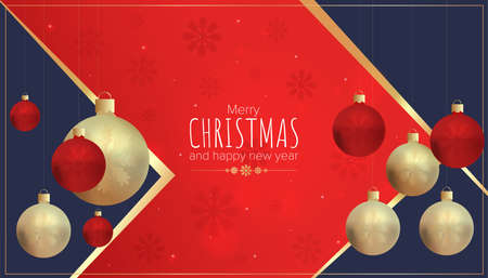 Merry Christmas and Happy New Year postcard. Can be used for parties, a certificate, or as a postcard for your design
