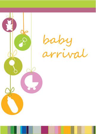 congratulate: arrival announcement card
