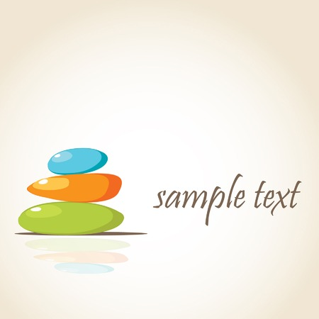 Colored spa stones background with place for your text Vector