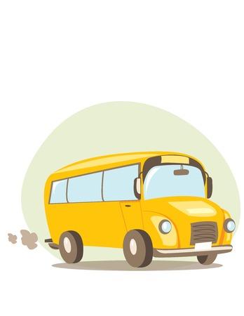 ausflug: Schulbus-Vektor-illustration
