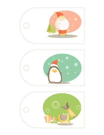 Christmas labels with place for your text
