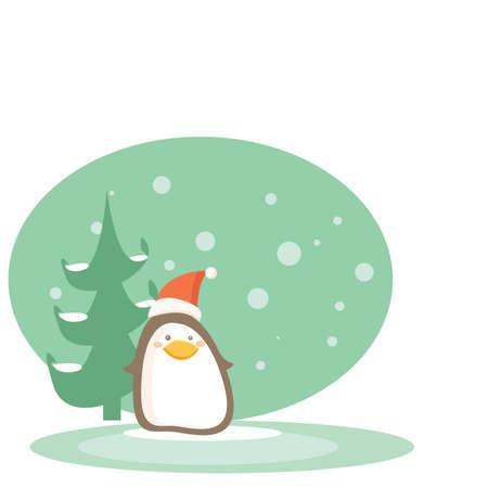 cartoon penguin vector illustration Vector