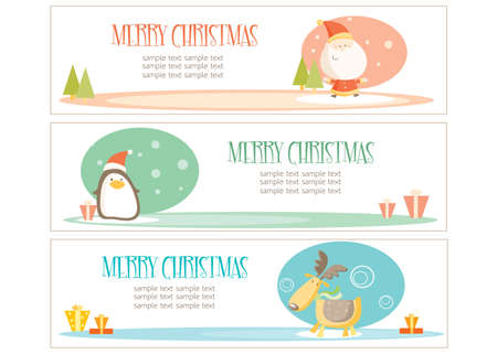 christmas banners with place for your text Vector