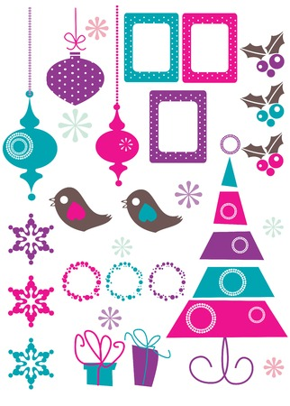 christmas tree purple:  Christmas Design Elements vector illustration Illustration