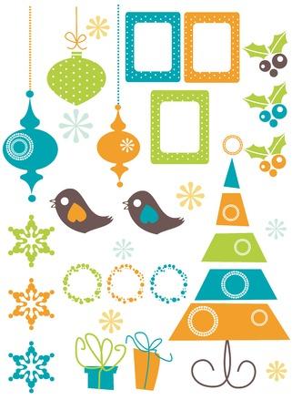 bird box: Christmas Design Elements vector illustration