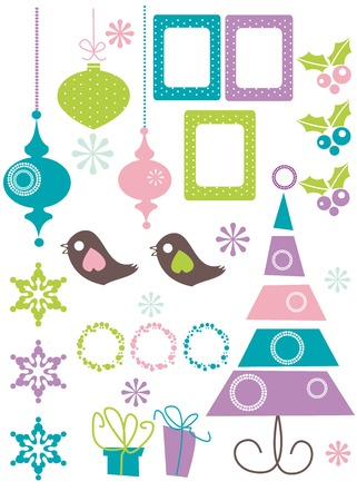 Christmas Design Elements vector illustration Stock Vector - 6017676