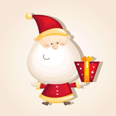 vector illustration of cartoon Santa Claus Illustration