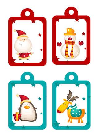 Christmas holiday tags