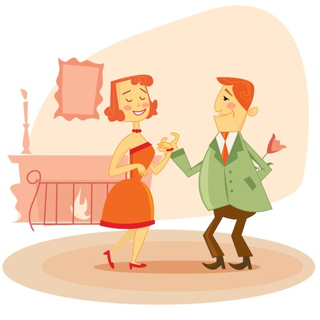 Couple dating  Vector