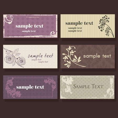 Set of colorful elegant cards Illustration