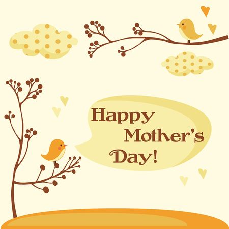 Happy Mothers Day Card  illustration Vector