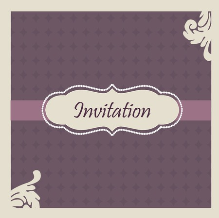Elegant  wedding invitation illustration Vector