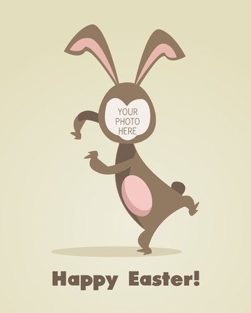 Easter greeting card with place for your picture Vector