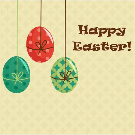 Easter greeting card illustration Stock Vector - 6673677