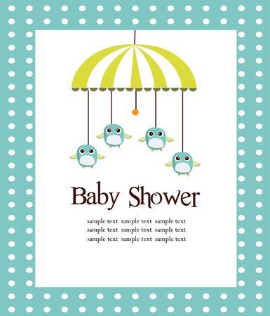 for boys: Baby shower card for boys  illustration