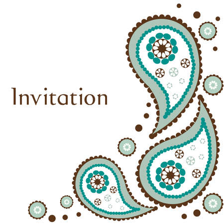 wedding invitation card illustration Illustration