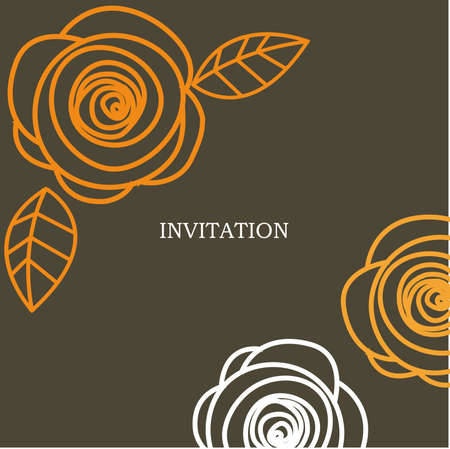 wedding invitation card  illustration Vector