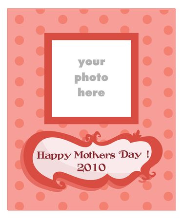 Mother's Day card for girls, illustration Stock Vector - 6798212